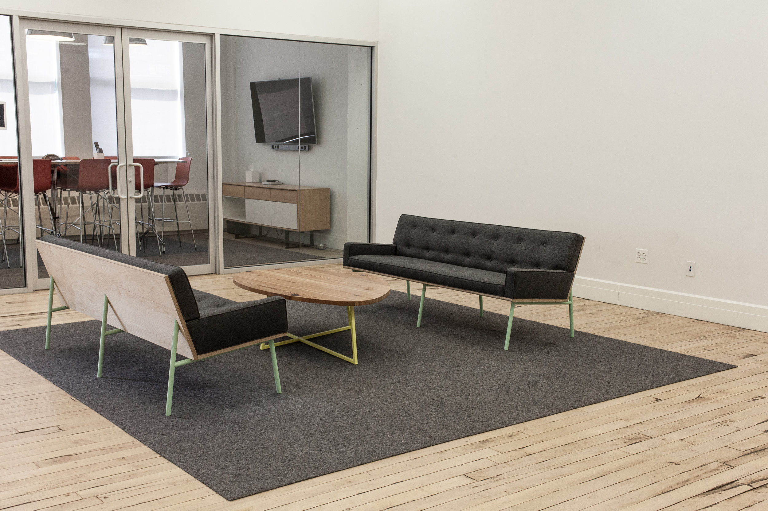 Shown: Custom DGD Sofas and  Noguchoff Coffee Table