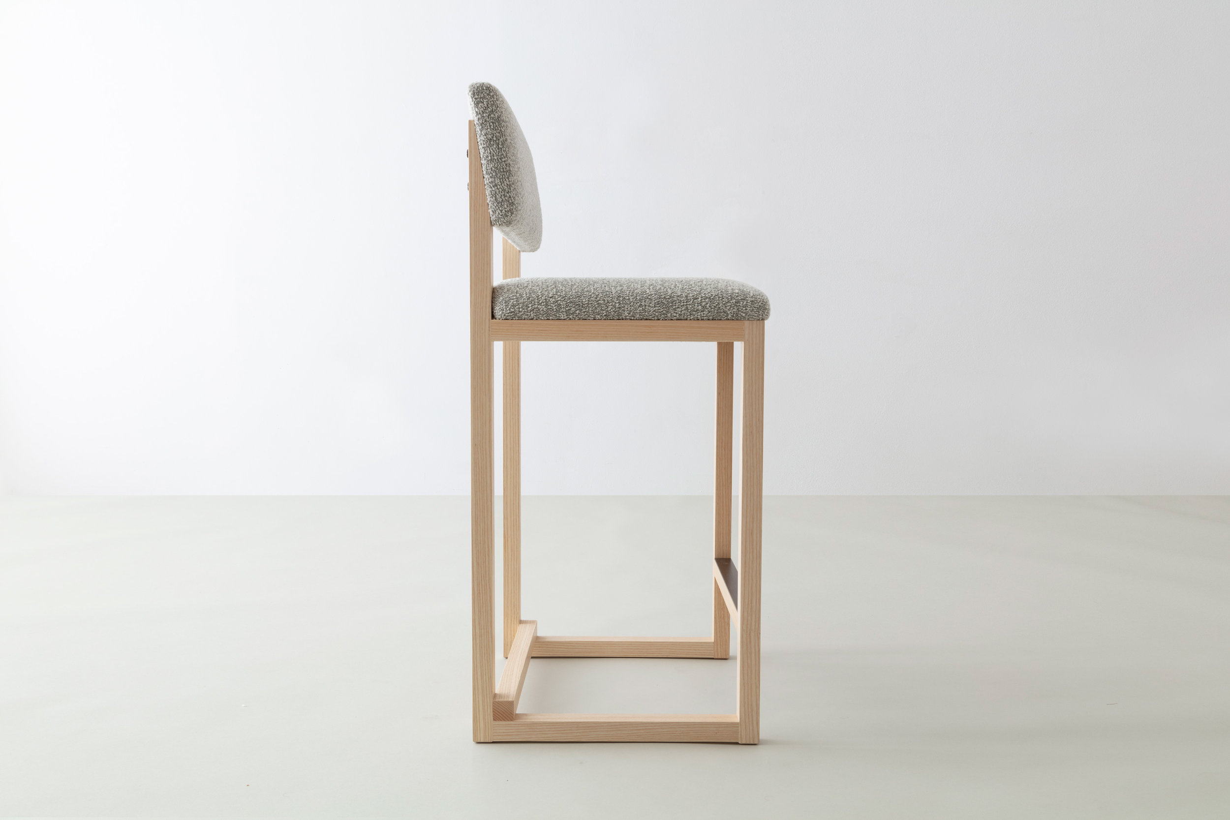 SQ Upholstered Counter Stool by David Gaynor Design