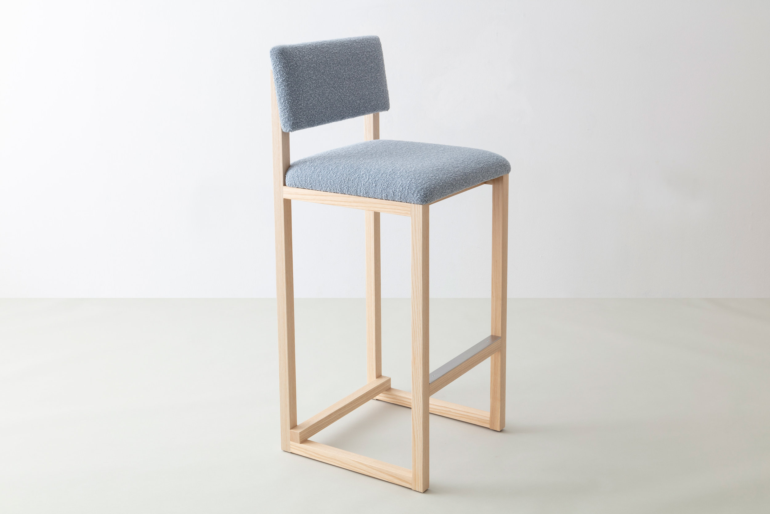 SQ Upholstered Bar Stool but David Gaynor Design