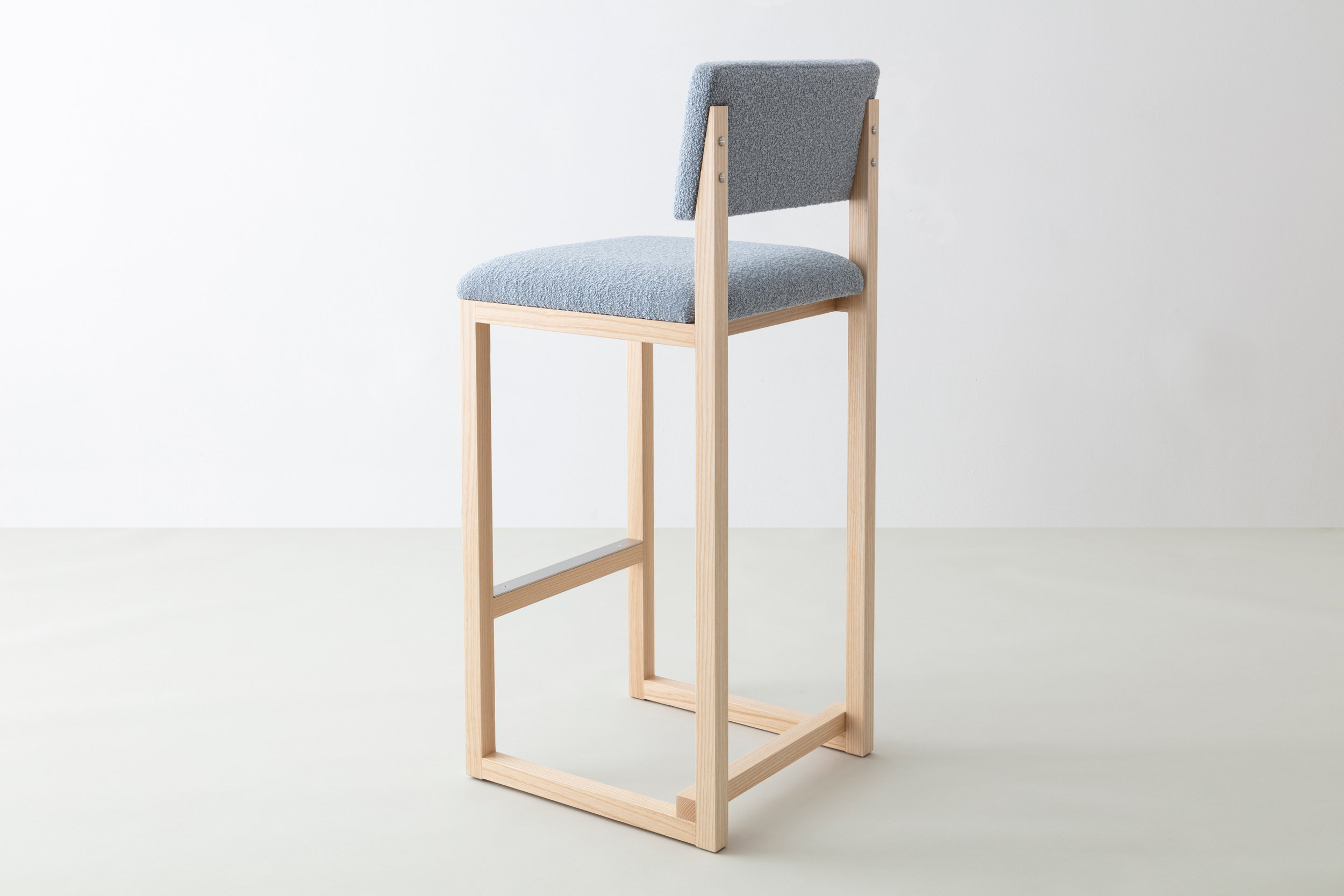 SQ Upholstered Bar Stool by David Gaynor Design