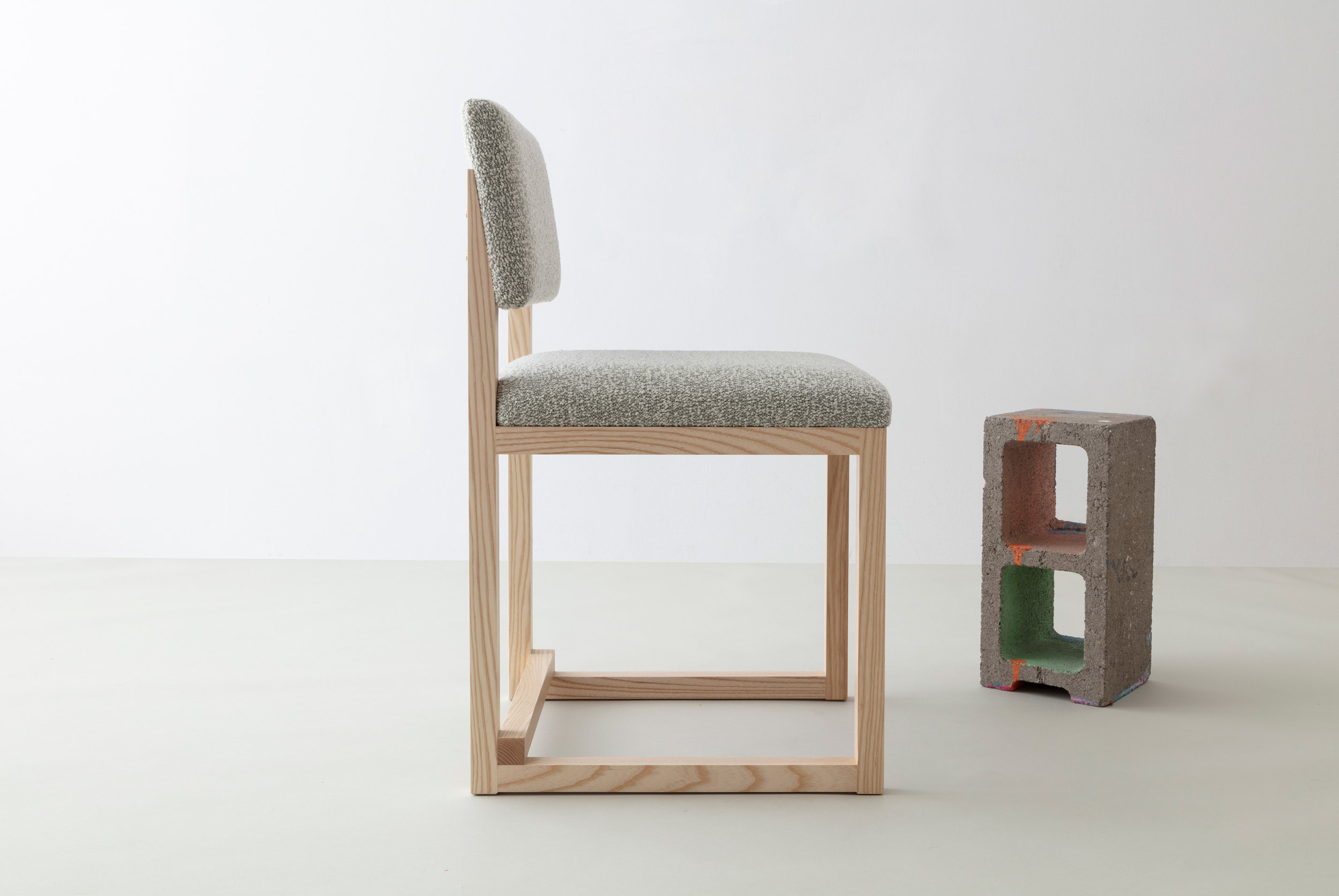 SQ Upholstered Dining Chair by David Gaynor Design
