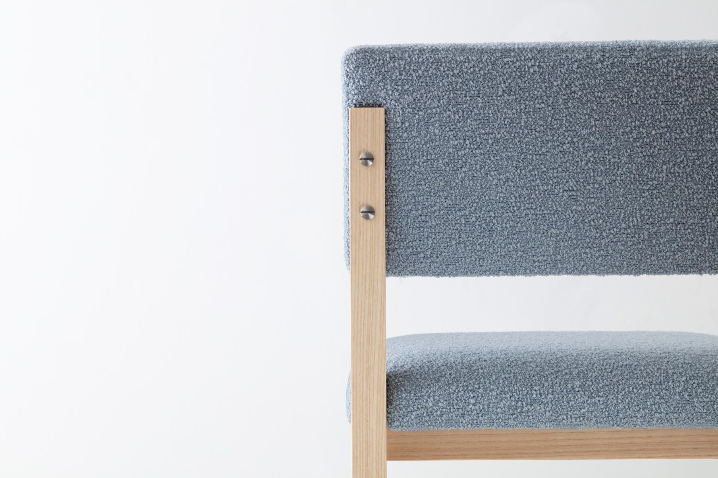 SQ Upholstered Bar Stool by David Gaynor Design