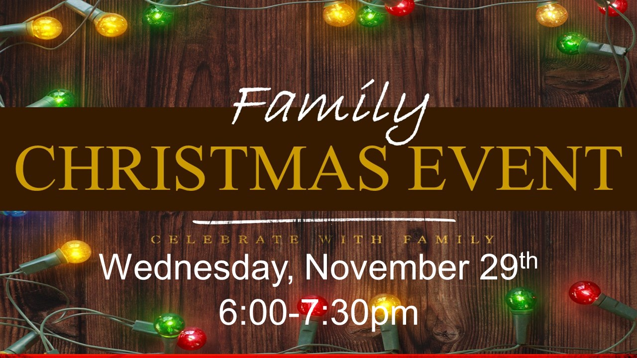 Please Join Us For Christmas Dinner, Devotion, and Craft Making.