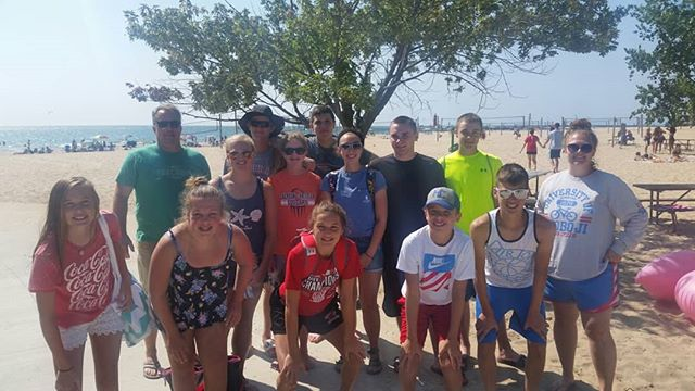 Beach Day 2018: 12 youth, 2 adults, 2 Mini vans, lots of food, sunscreen and fun. #BOOMERANGFOREVER #Twizzlers