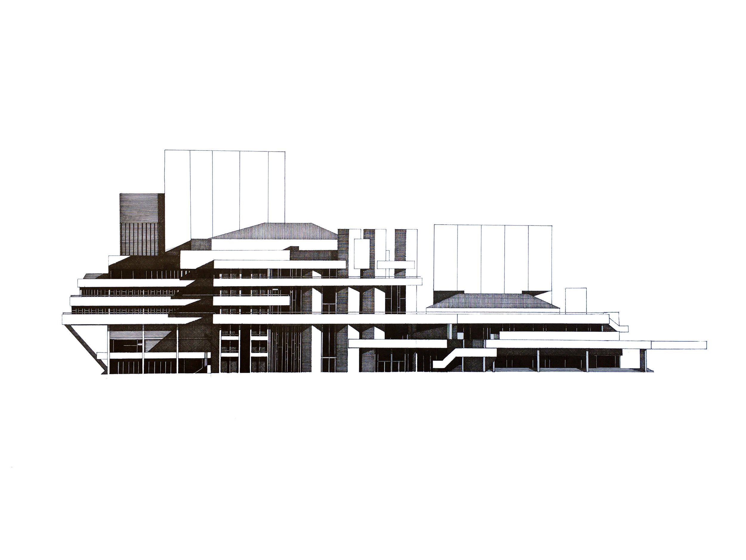 National Theatre. London  North Elevation