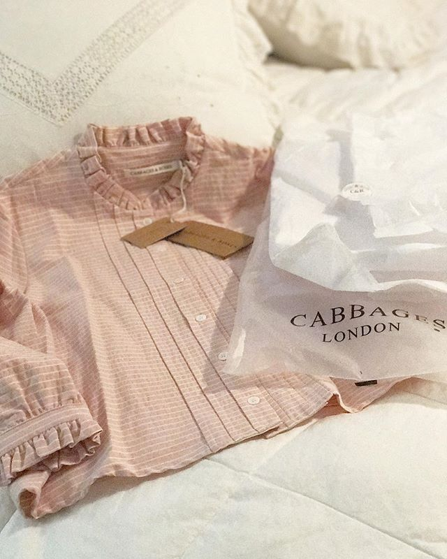 a fantastic S A L E means happy mail! @cabbages_and_roses this is the most exquisite shade of pink, I LOVE the fabric, and I cannot wait to wear for upcoming events next month. Thank you for creating such beautiful pieces. #rosewatercottage #cabbagesandroses #london #maud #pink