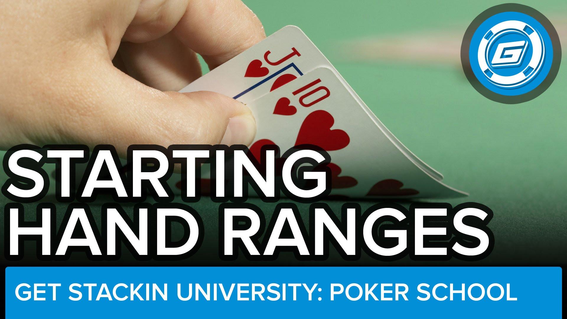 Starting Hand Ranges For Short-Handed No-Limit Cash Games - LESSON #15