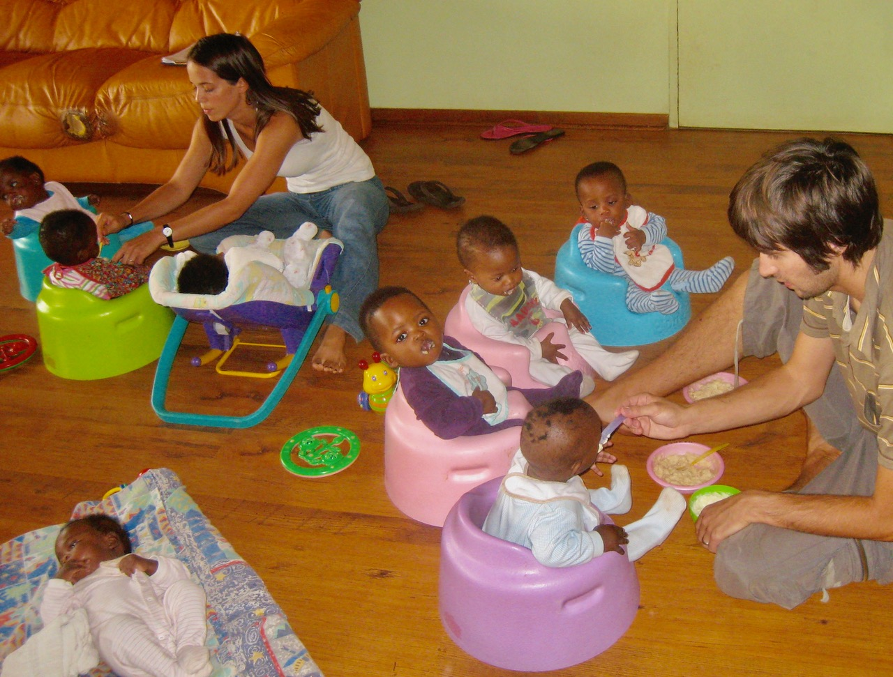 Volunteering for three months in a home for abandoned babies in Johannesburg ( www.tlc.org.za ) – run by an incredibly inspiring woman – Thea Jarvis.