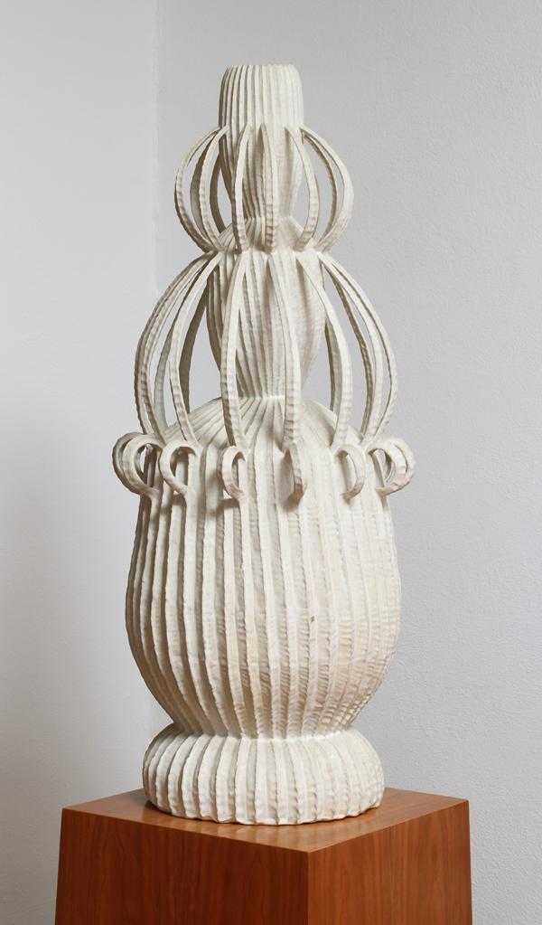 Kim Dickey, Bride, Coutesy of the Estate of Robin Rule,2000,glazed white stoneware,38 x 14.5 x 14 in