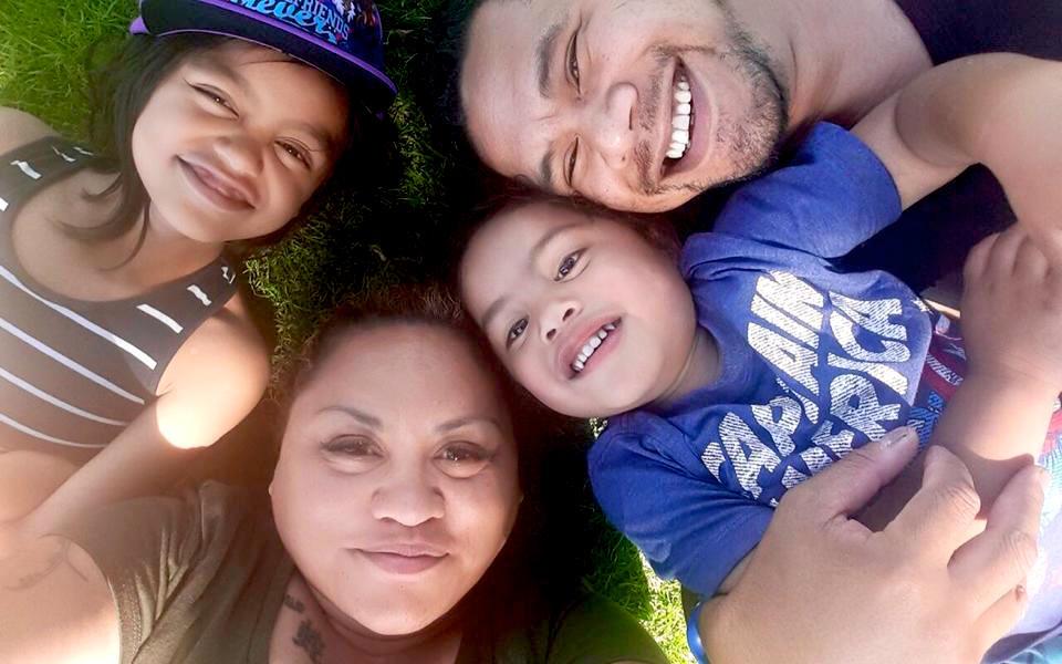 Helen & her family