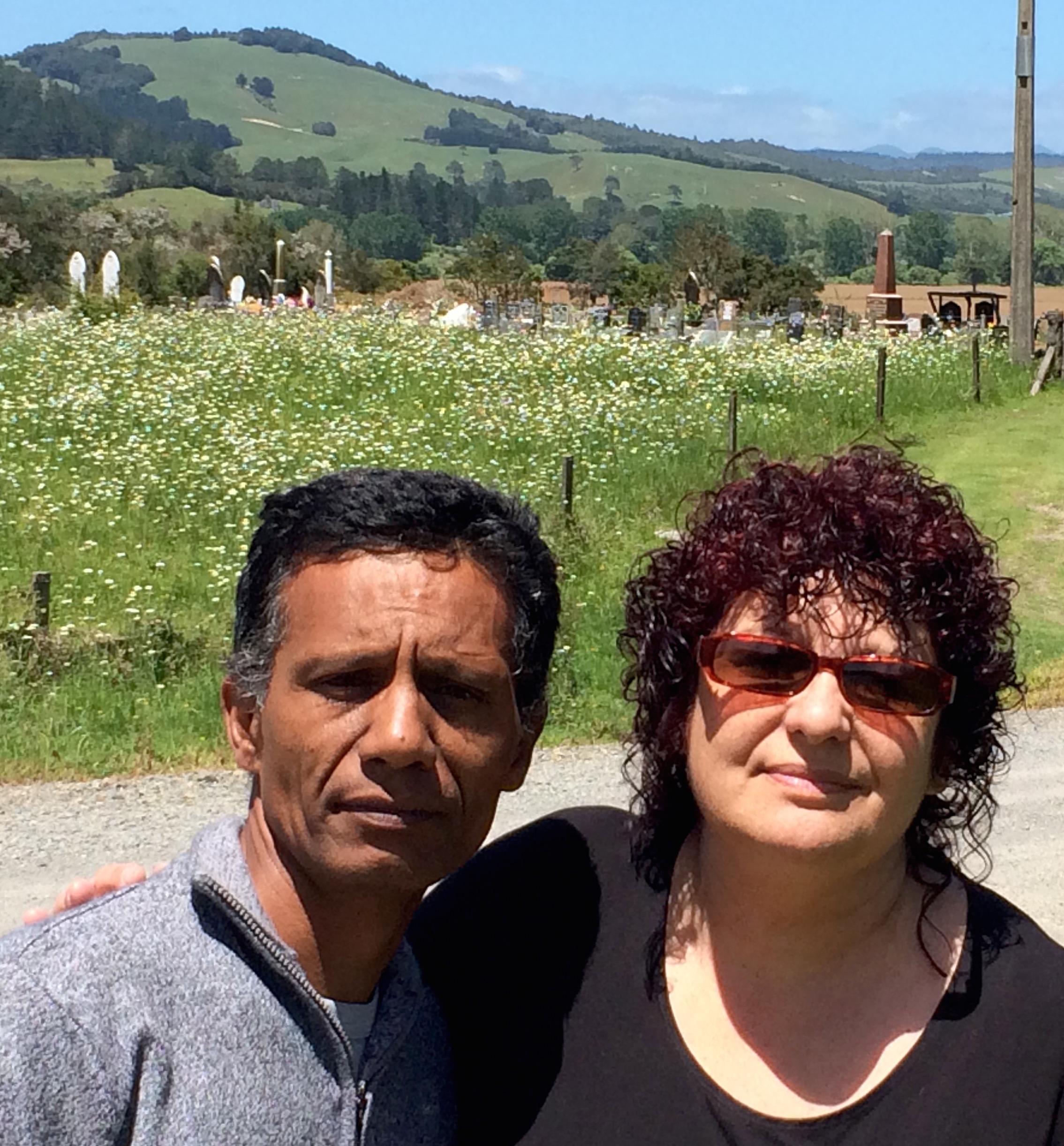 Brownie & Me, standing on ancestral land