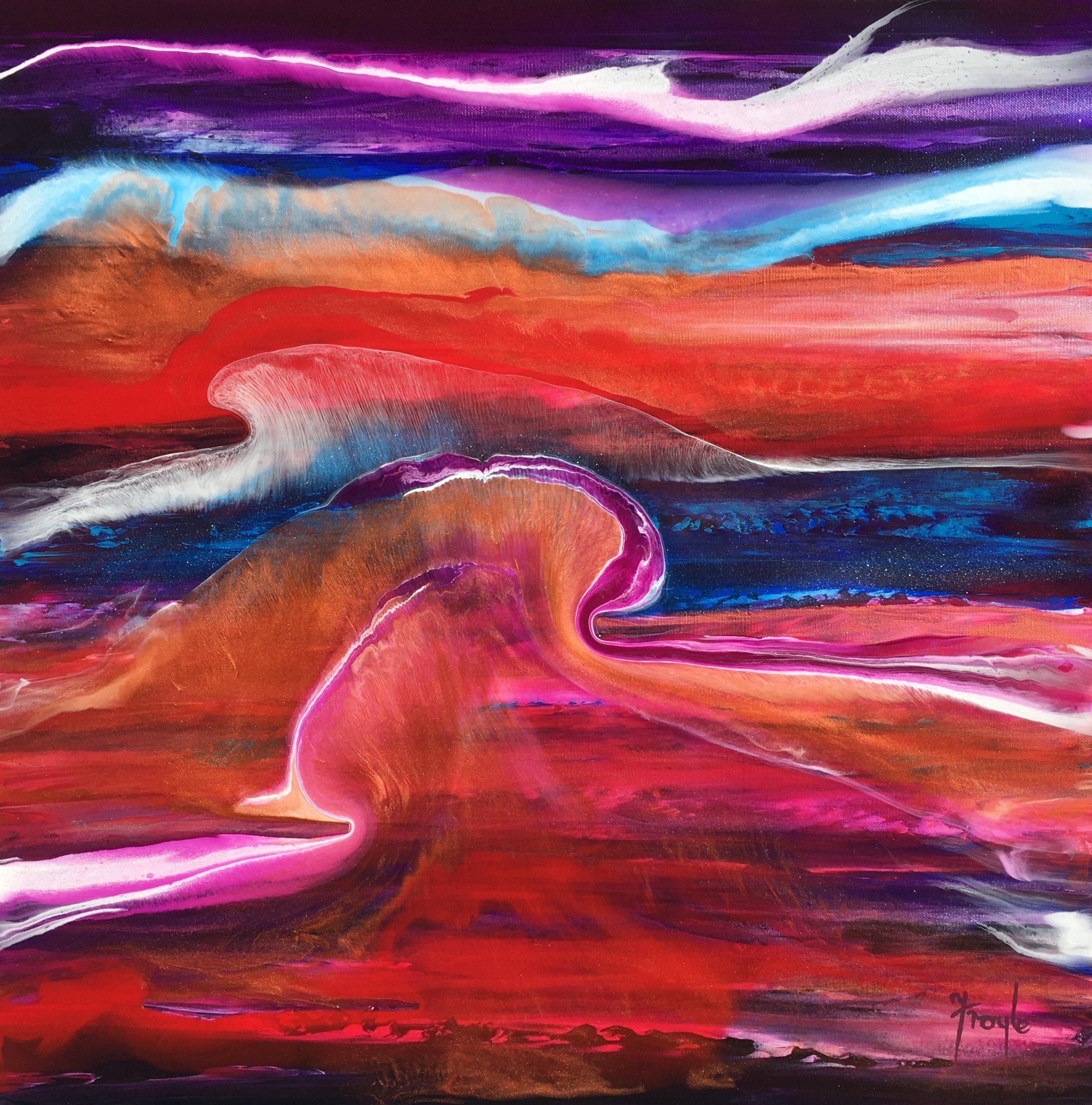 Faithfulness  acrylic on linen, 61 x 61cm  The painting commission