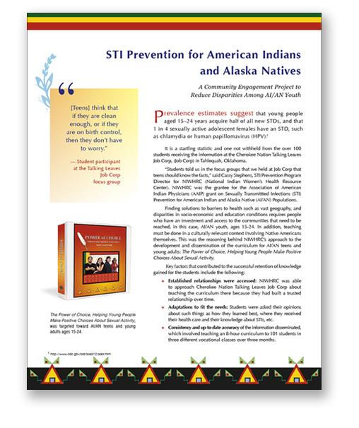 NIWHRC Teen STI Prevention Monograph