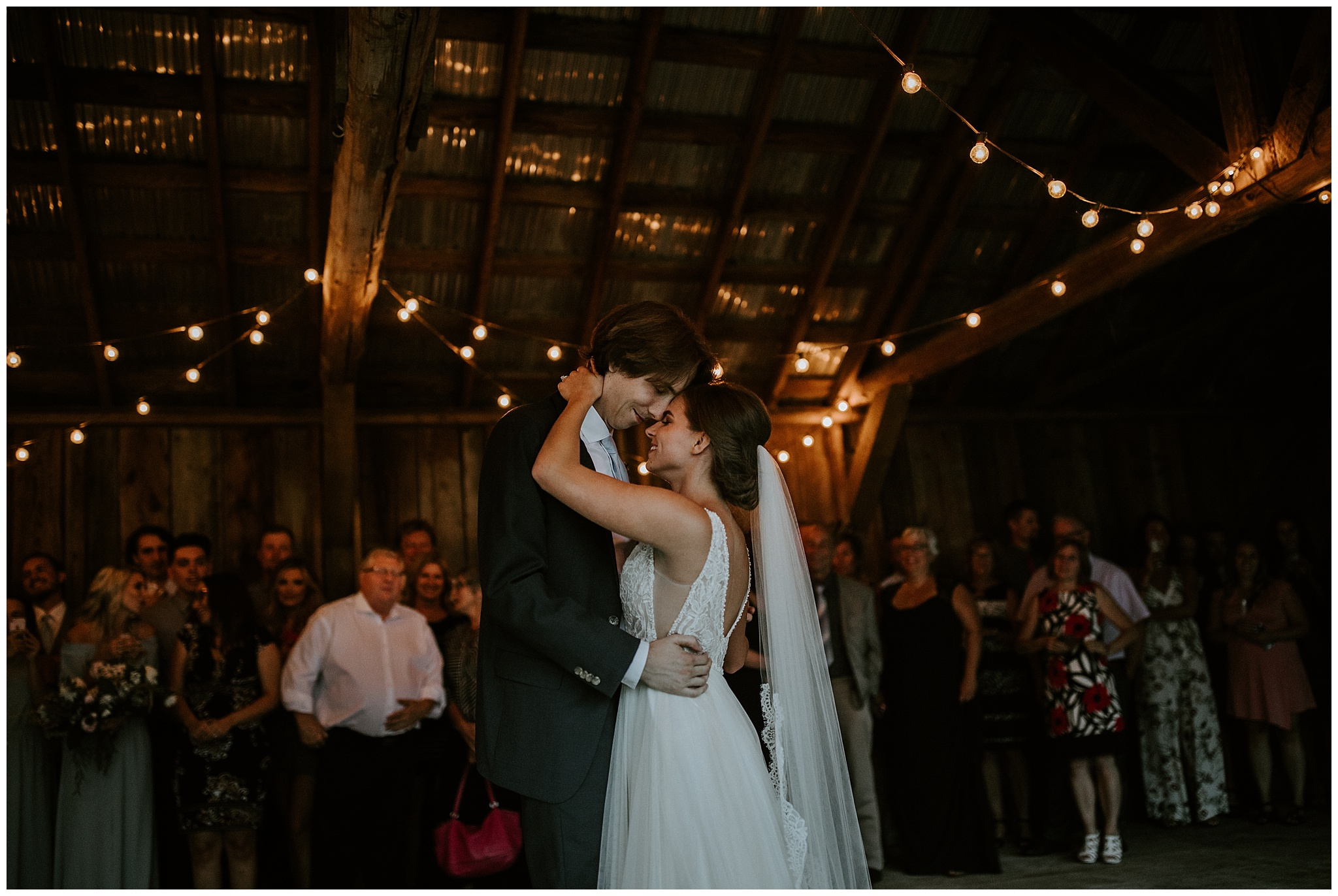 A photo of the first dance in the open barn at Estate 248 in Langley