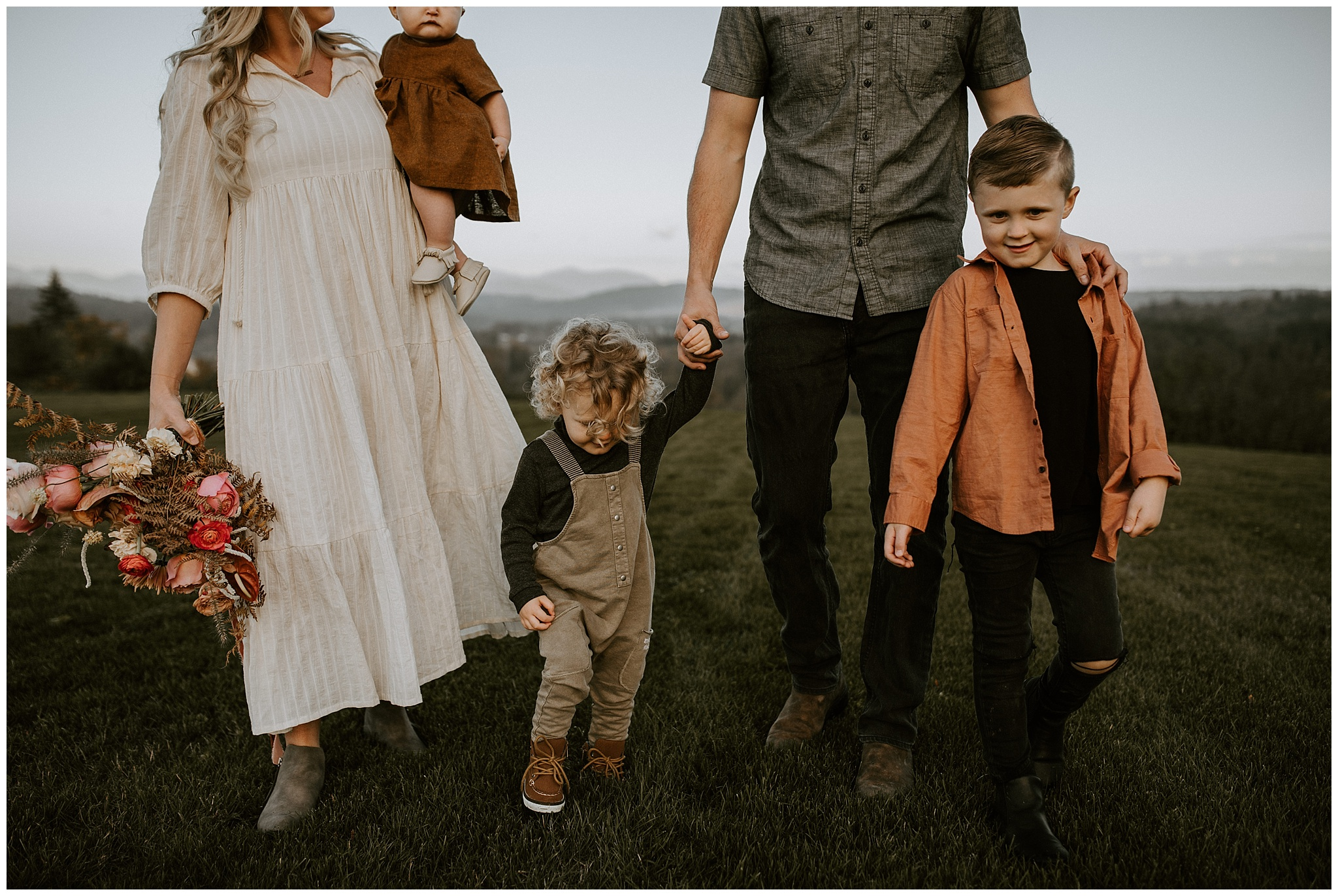 Bohemian family photos in Fort Langley