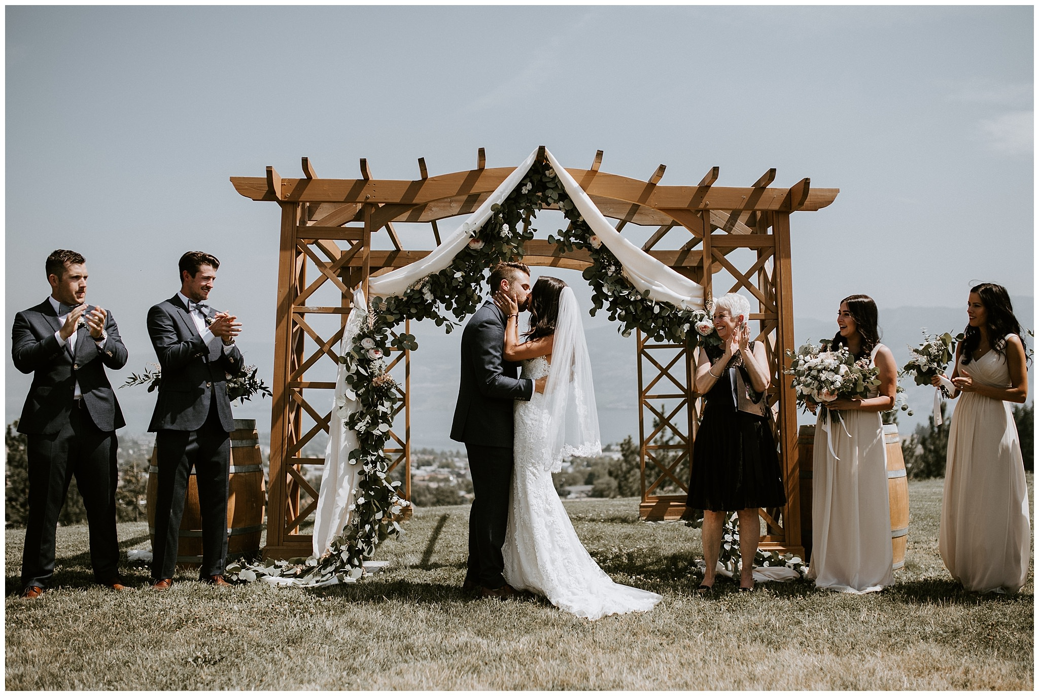 Wedding ceremony at Off The Grid Organic Winery