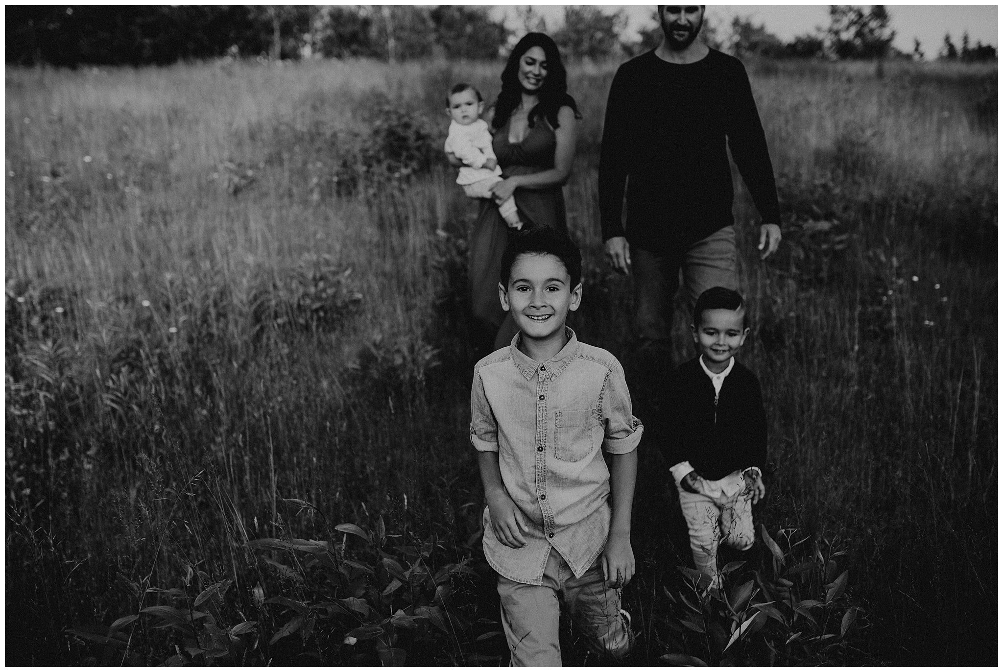 Golden hour family session in Langley British Columbia