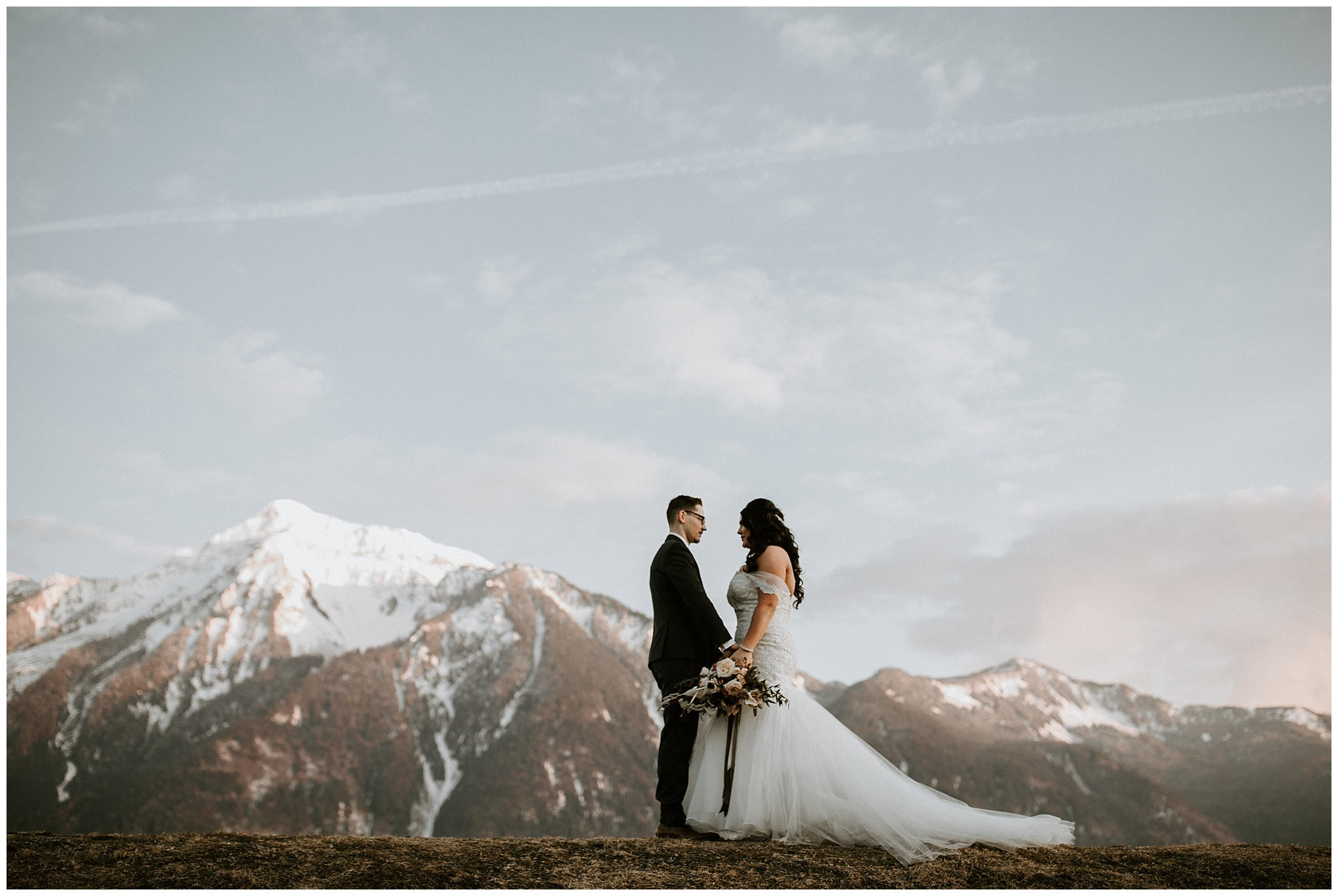 Bride and Groom at the Fraser River Lodge Wedding Venue
