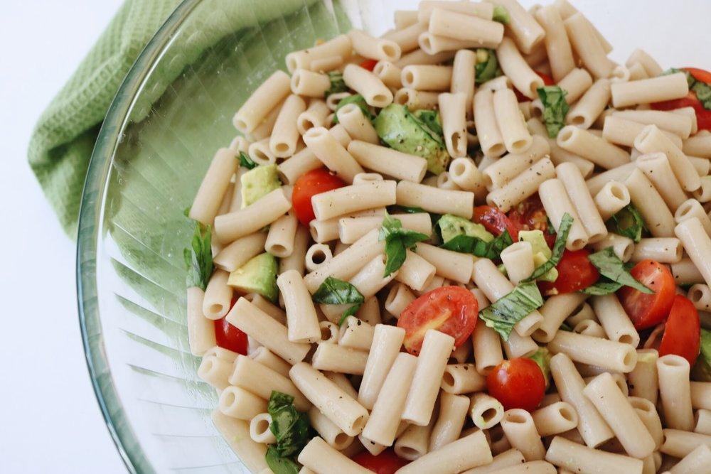Vegan Caprese Pasta Salad