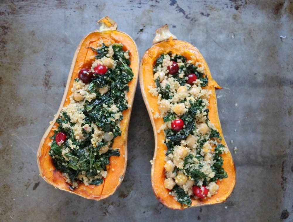 Kale & Quinoa Stuffed Squash