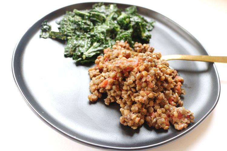 Lentils+Kale 10 minutes