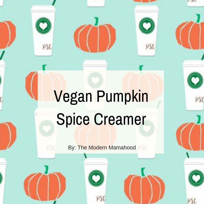 Vegan Pumpkin Spice Creamer