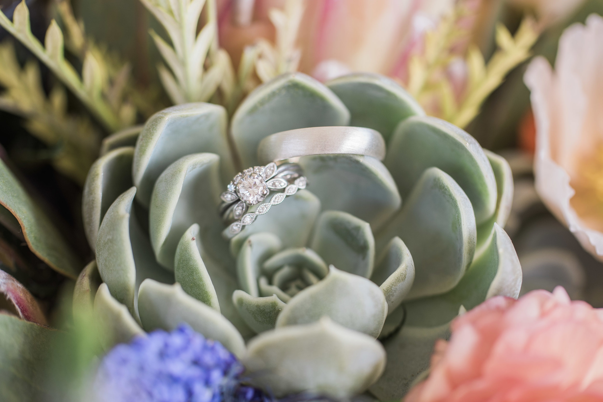 Rings in the bouquet