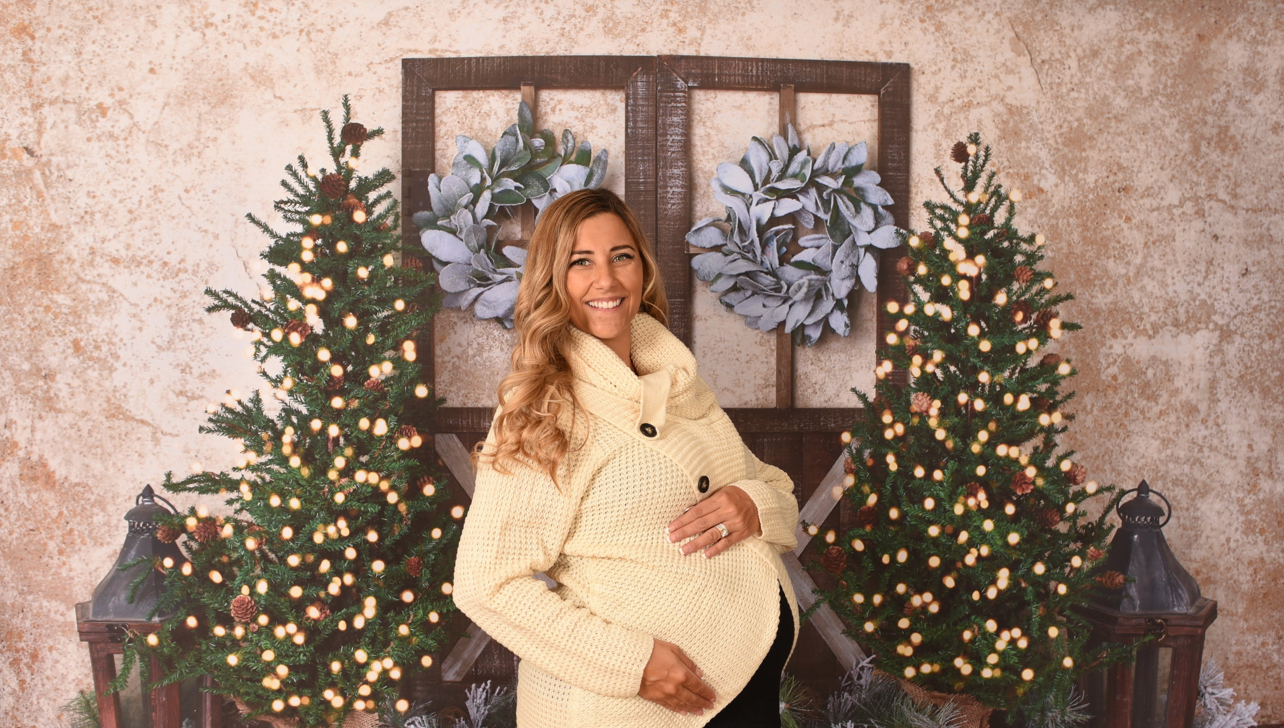 Neutral Christmas Backdrop