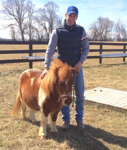 Michael Alway with therapy horse Jack