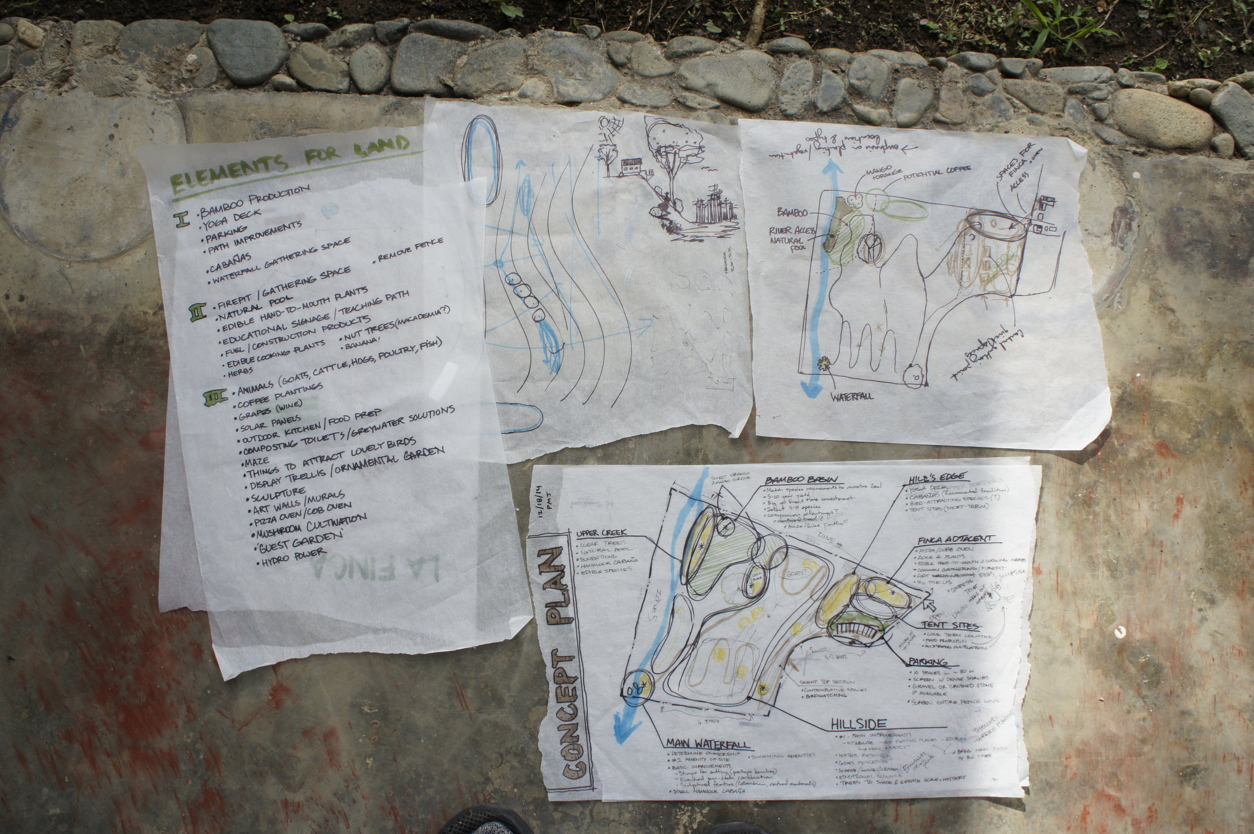 Concept development sketches