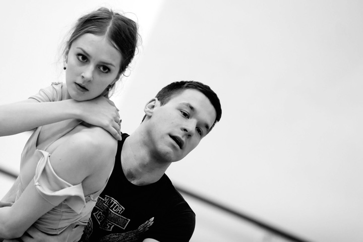 With Susanne Grinder of The Royal Danish Ballet in rehearsal for  Planet Wonderful. Photo by David Amzallag