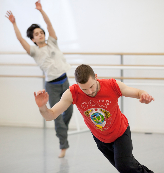 Creating  The Lost Dance with Javier Ubell (Oregon Ballet Theatre). Photo by Blaine Truitt Covert.