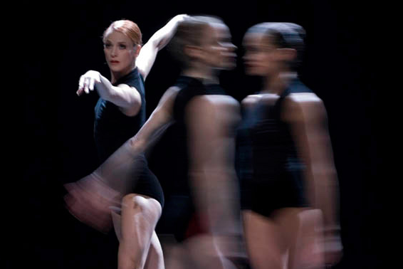 Stephanie Hutchison, Tanya Howard and Jennifer Fournier in  C.V.   (National Ballet of Canada). Photo by Johan Persson