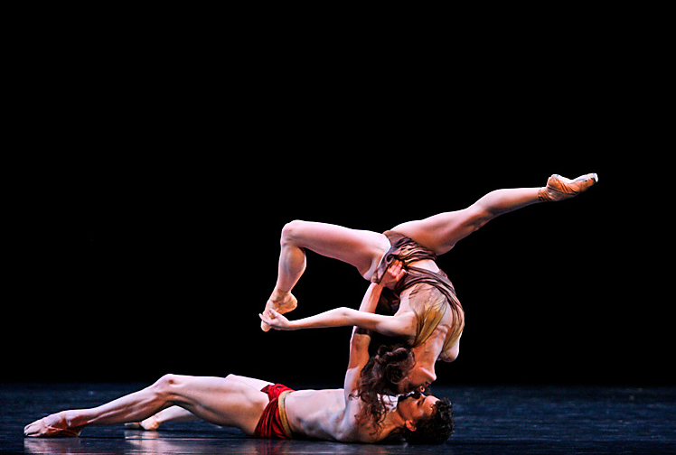 Madeleine Eastoe and Kevin Jackson in  Semele  (Australian Ballet). Photo by Jeff Busby, courtesy of The Australian Ballet