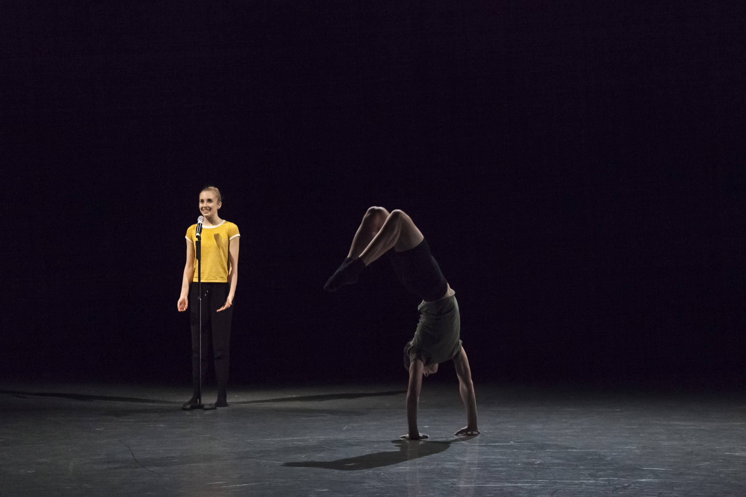 Ashton Gordon and Holden Cole in  I Wonder -  AI17 - Canada's National Ballet School. Photo by  Aleksandar Antonijevic .