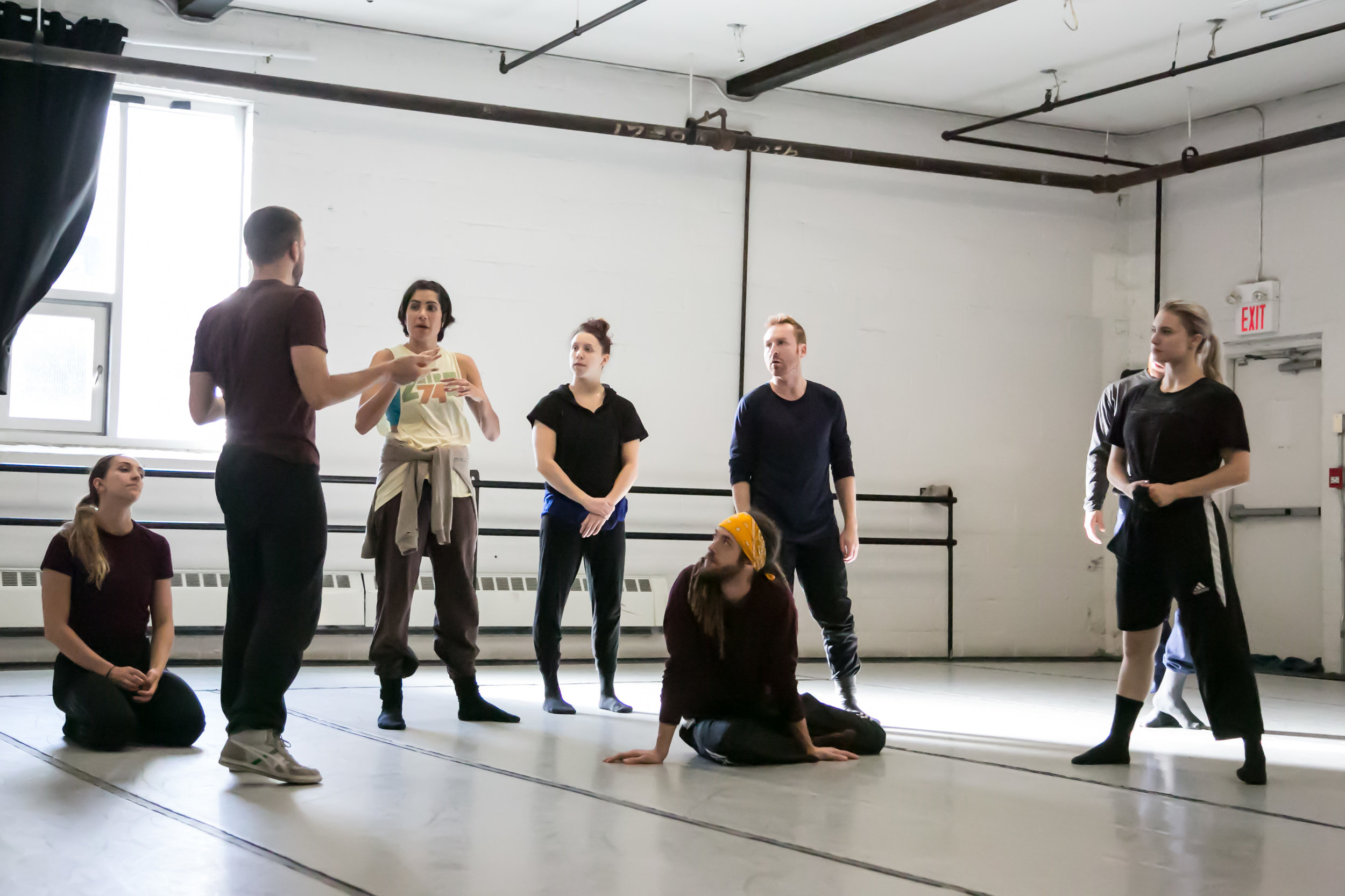 With the ProArteDanza dancers in rehearsal for  Future Perfect Continuous . Photo by  E.S. Cheah Photography