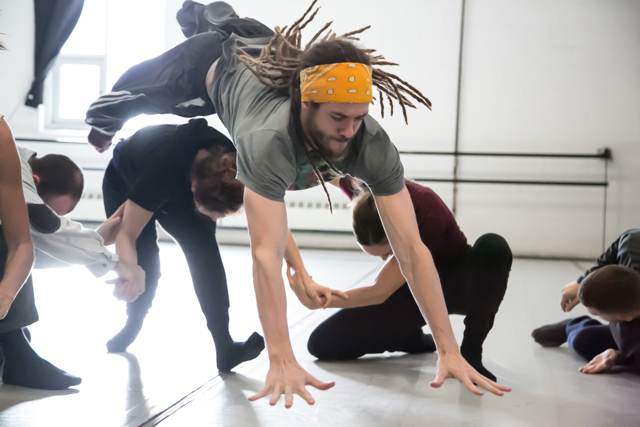 Christopher Valentini going for the gold in rehearsal for  Future Perfect Continuous  (ProArteDanza). Photo by  E.S. Cheah Photography