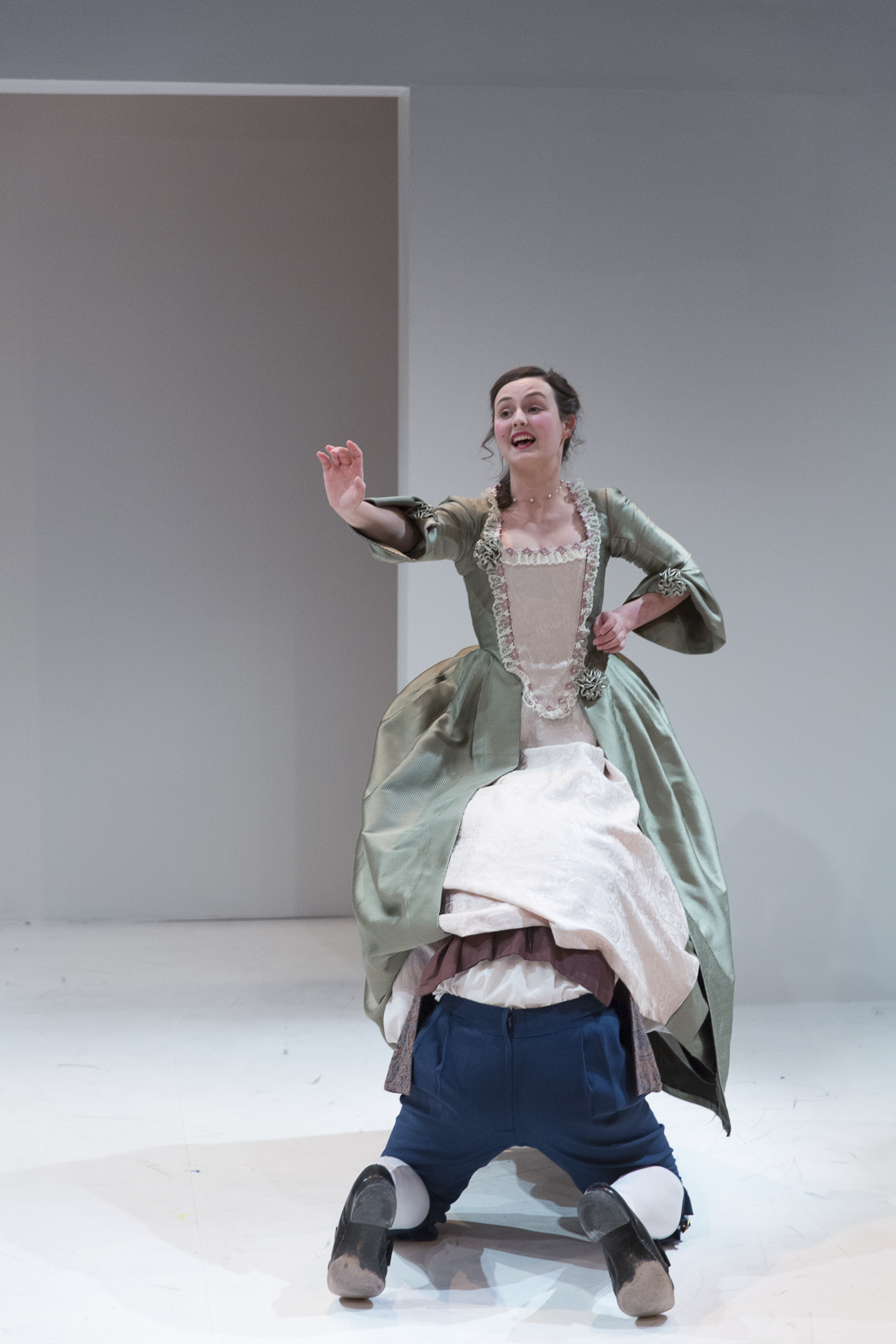 Emma Nelles in  Candide  by Mark Ravenhill (George Brown Theatre). Photo by  Aleksandar Antonijevic