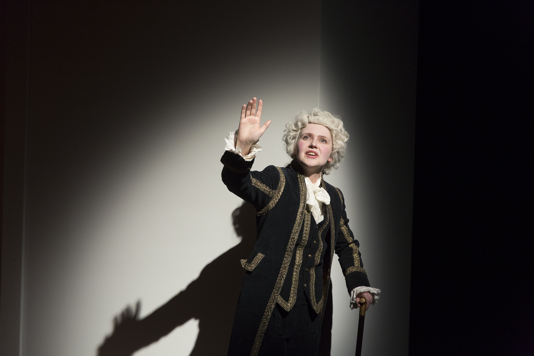 Rachel Moore in  Candide  by Mark Ravenhill (George Brown Theatre). Photo by  Aleksandar Antonijevic