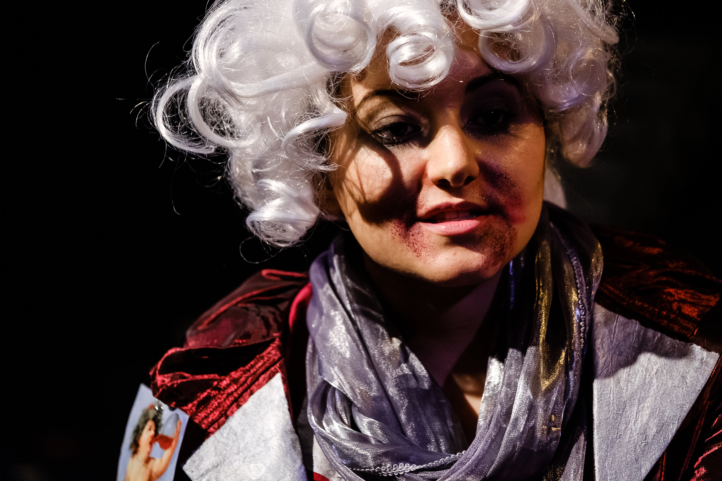 Angelica Bolognesi in in  Wounds to the Face  (Randolph College for the Performing Arts). Photo by  Raph Nogal