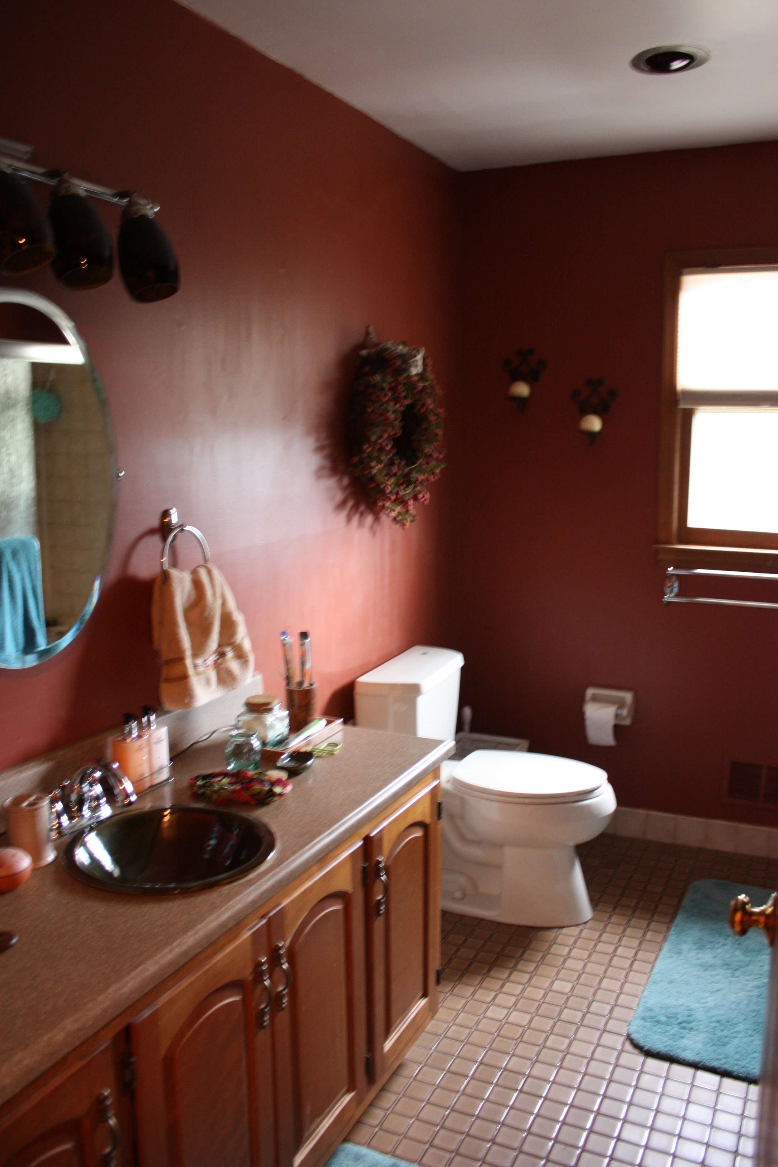 Before  - You can't have a beautiful guest bedroom without an equally beautiful bathroom!