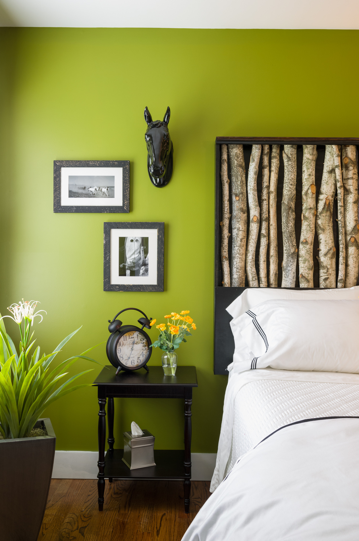 After  - The framed photographs, sourced from Arizona, are a nod to our client's love of horses and riding.