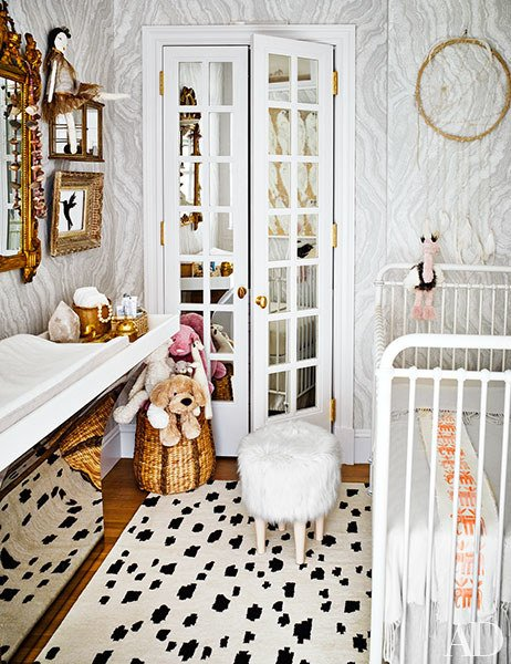 The nursery via  Architectural Digest