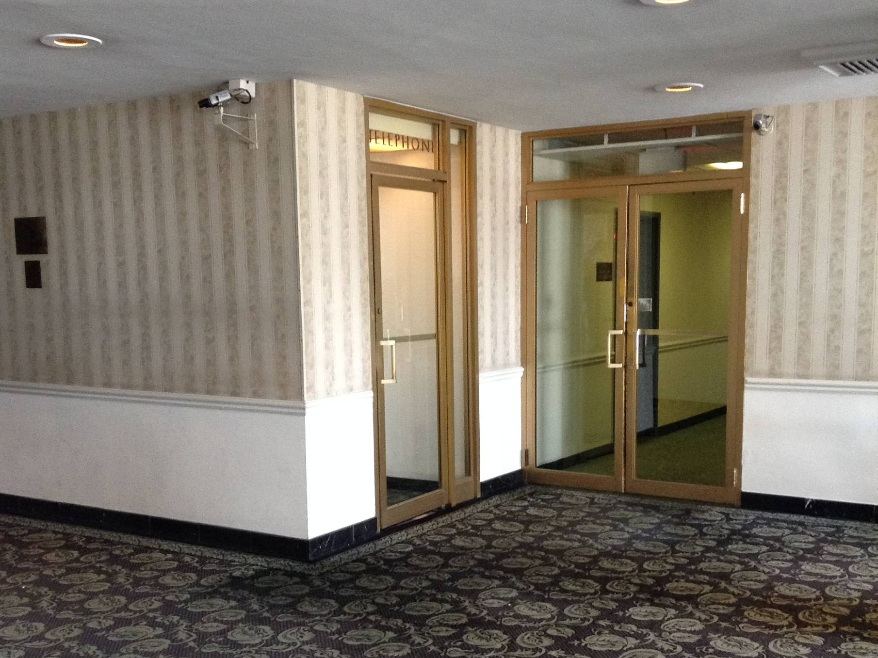 Before  - The lobby looked dated and dark.