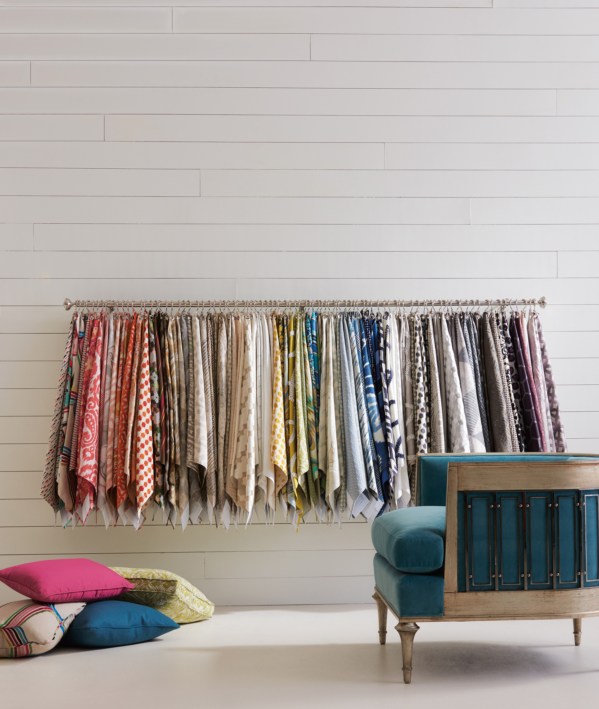 Vibrant fabric in tons of colors and patterns from  Caracole .