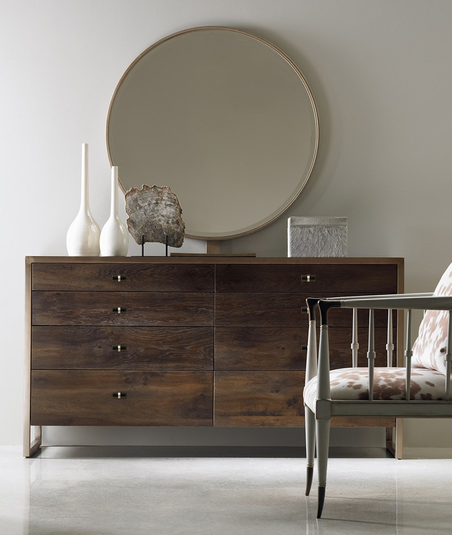 This piece from  Caracole's Modern Artisan Collection  is gorgeous, great quality and offers ample storage!