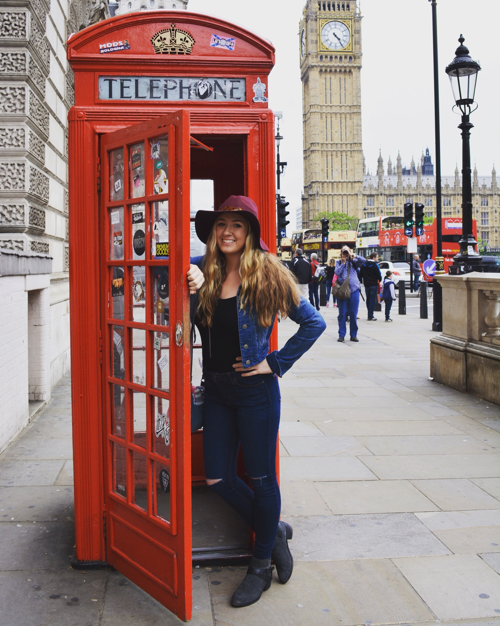 Iris' daughter Erin during her time studying abroad in London.