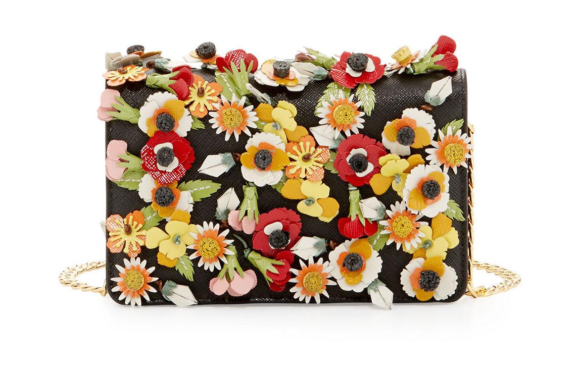 Prada Saffiano Garden Floral Crossbody Bag via  Neiman Marcus
