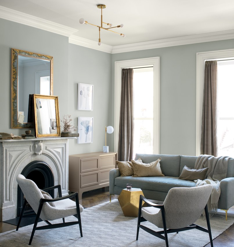 Benjamin Moore's 2019 Color of the Year, Metropolitan AF-690. Image via  Benjamin Moore .