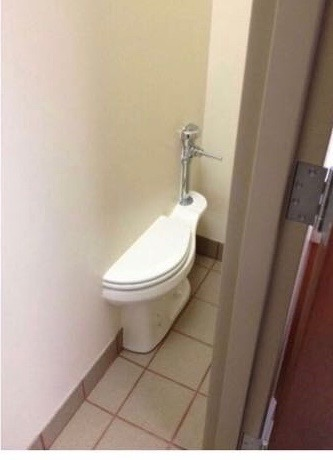 This has to be one of the least functional bathrooms of all time.